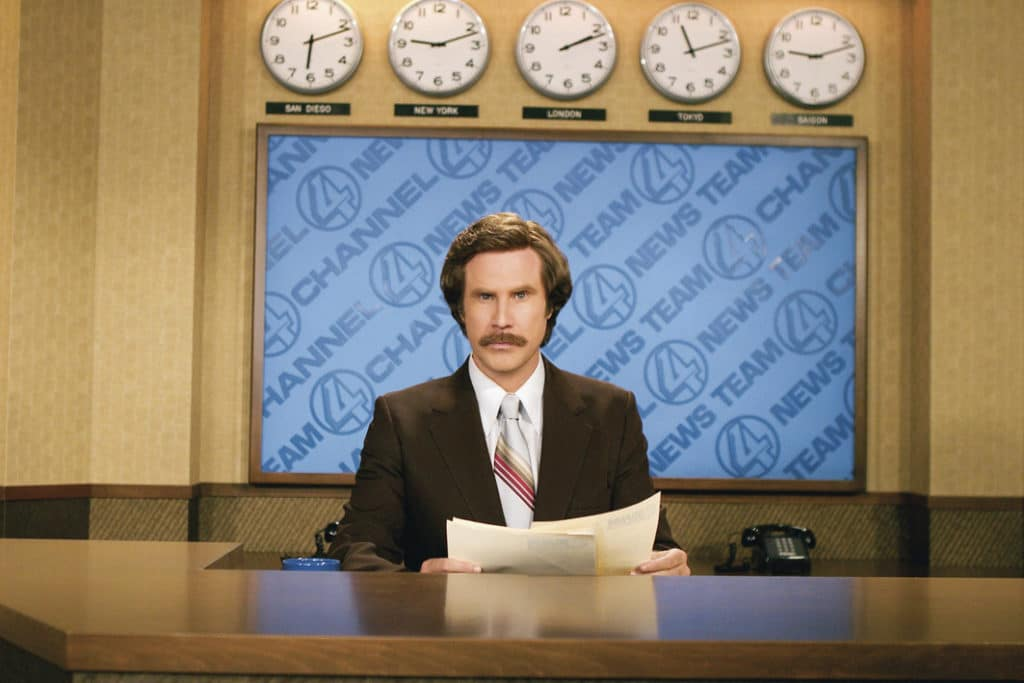'anchorman: The Legend Of Ron Burgundy' By Adam Mckay, Usa, 2004.