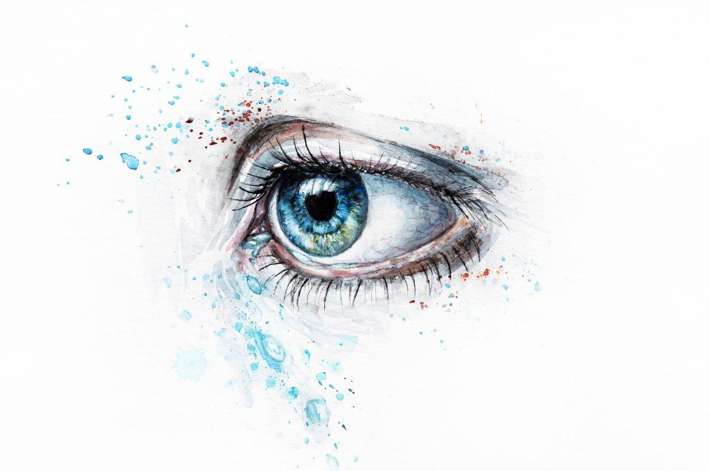 vízfesték szem