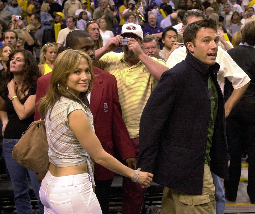 J. Lo And Ben Affleck At Lakers Game Four