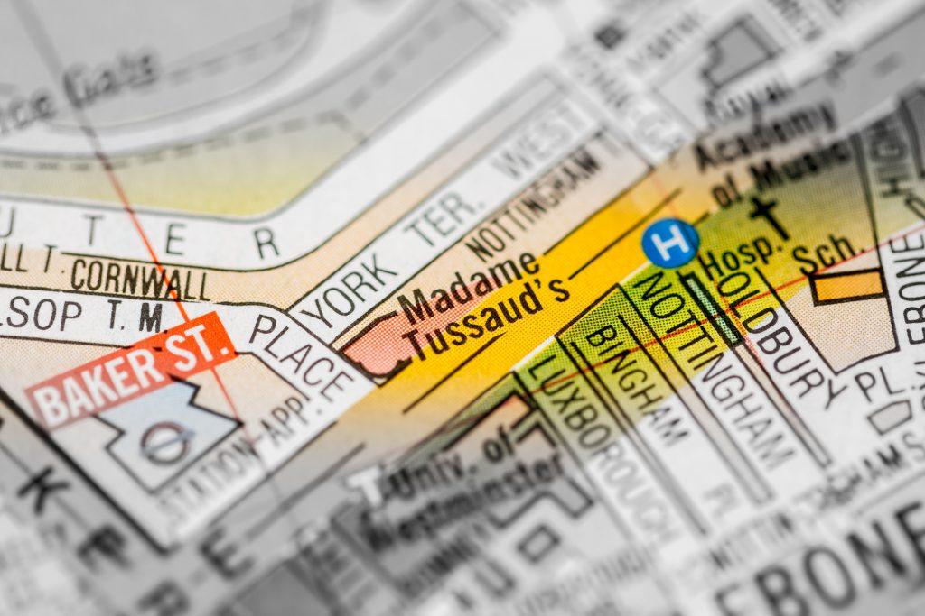 Madame,tussaud's.,london,,uk,map.