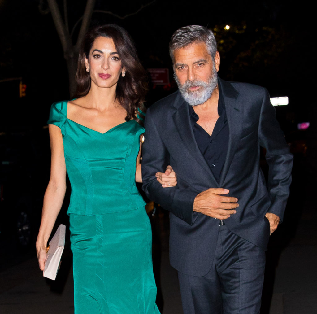 Amal And George Clooney Look Glamorous As They Step Out For Dinner In New York City
