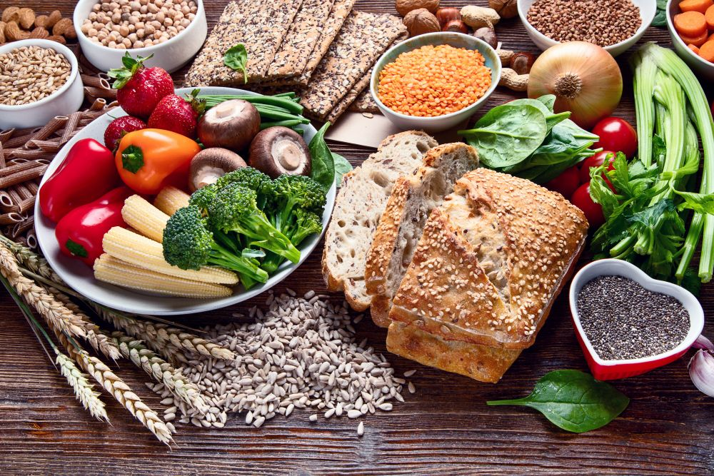 Healthy,natural,ingredients,containing,dietary,fiber.,healthy,high,fiber,diet