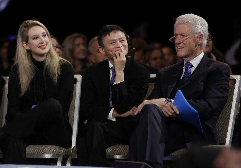 Elizabeth Holmes, Jack Ma And Bill Clinton At Cgi