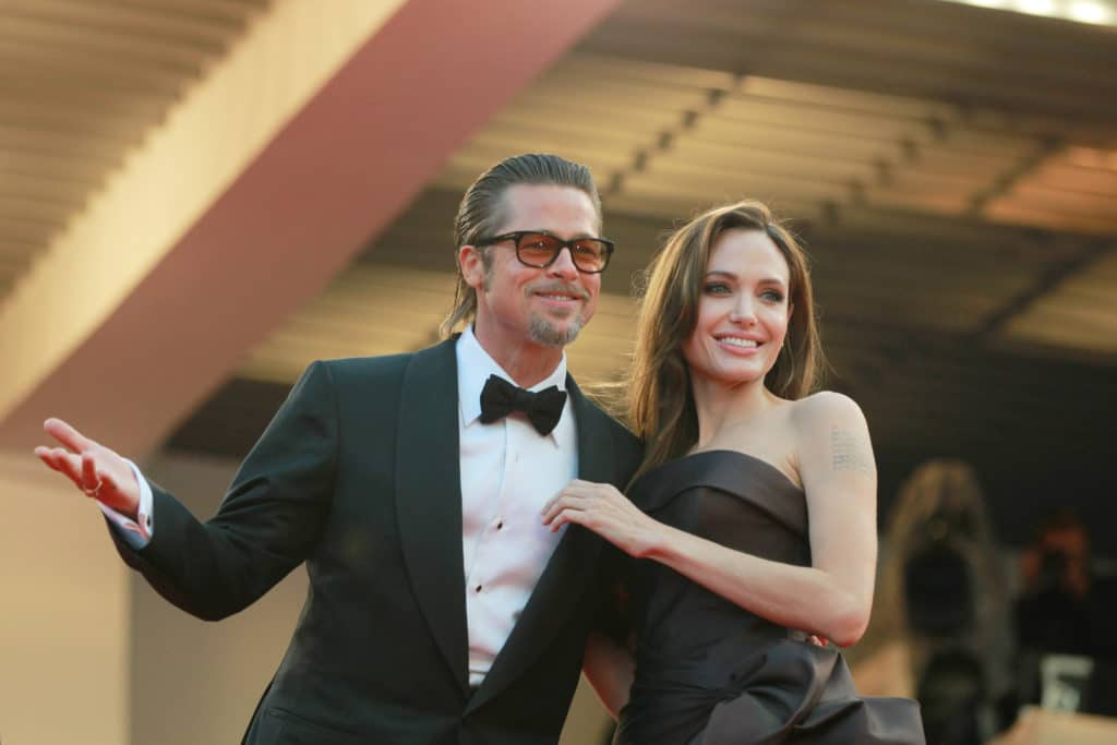 Angelina,jolie,and,brad,pitt,attend,the,'the,tree,of