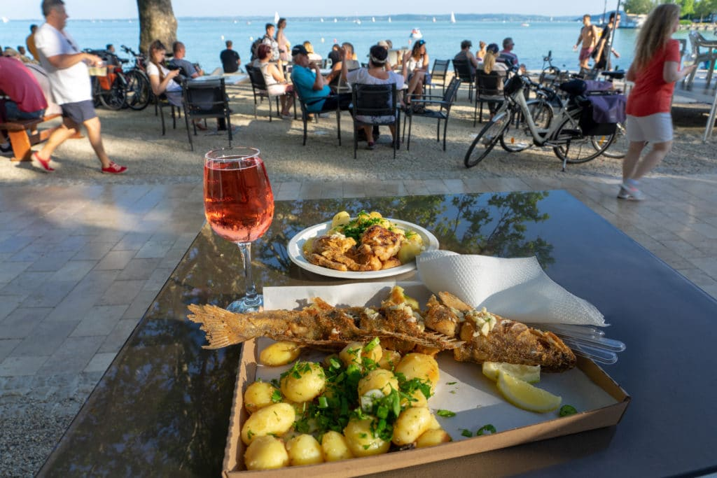Balatonfured,,hungary,,06.10.2019,:,fish,ad,wine,festival,fried,fish
