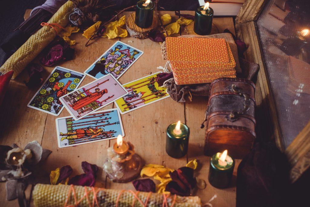 Europe,,ukraine.,kiev,april,21,:,illustrative,editorial.,tarot,cards