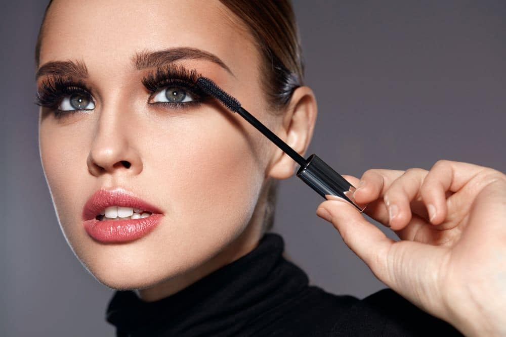 Beauty,make Up.,portrait,of,beautiful,young,woman,with,fake,eyelashes