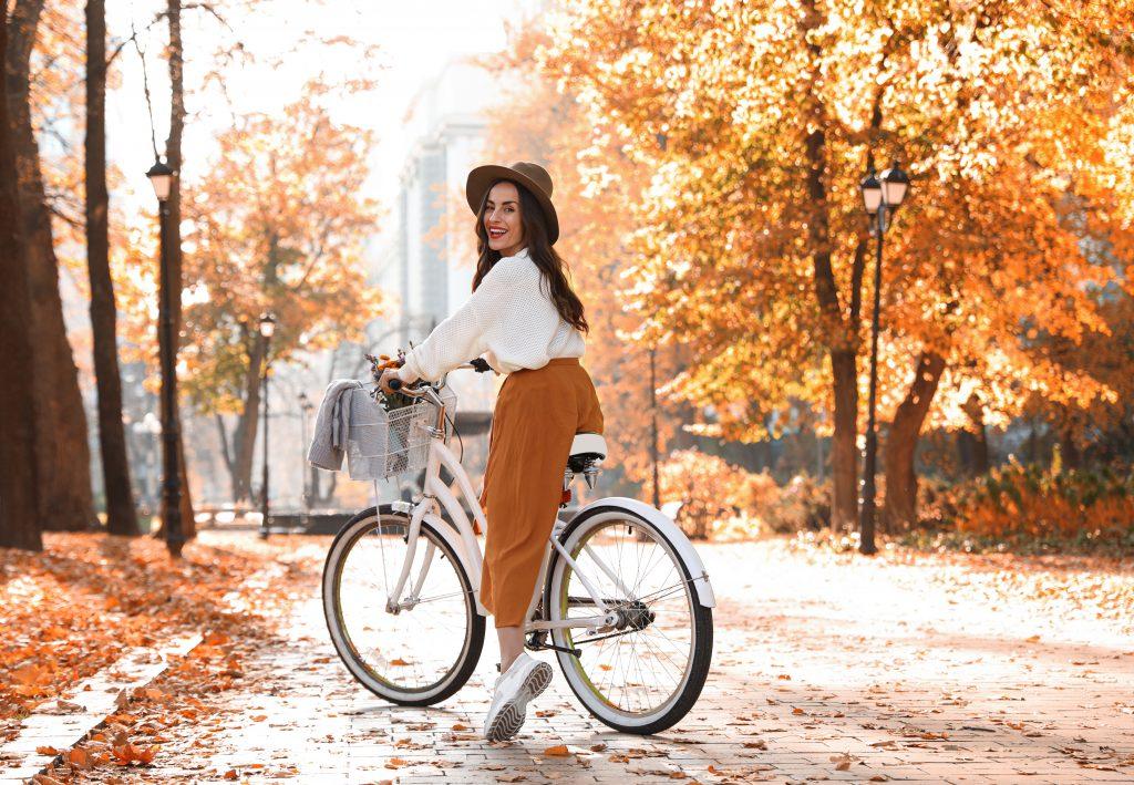 bicikli, park, sport, ősz