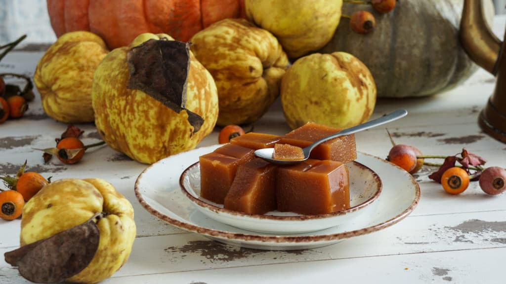Quince,cheese,or,marmelada,is,a,sweet,,thick,jelly,made
