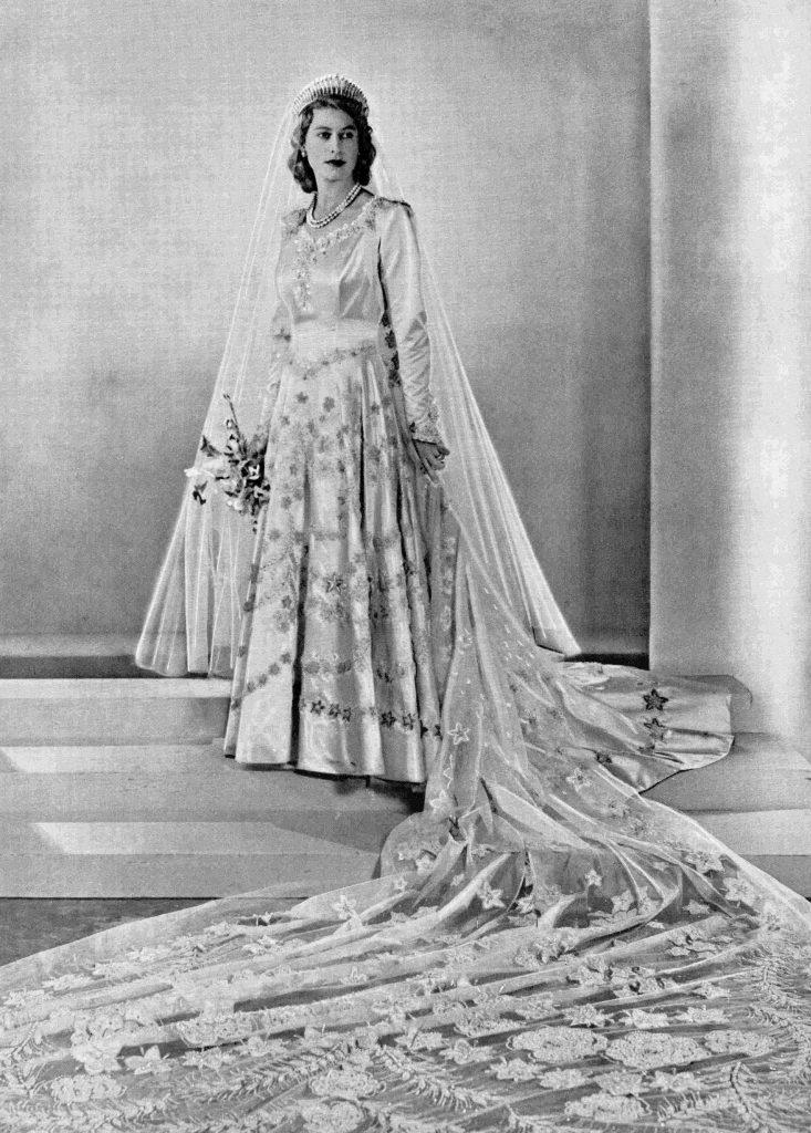 Princess Elizabeth, Future Queen Elizabeth Ii, Born 1926, Seen Here On Her Wedding Day. From A Photograph Taken In 1947.