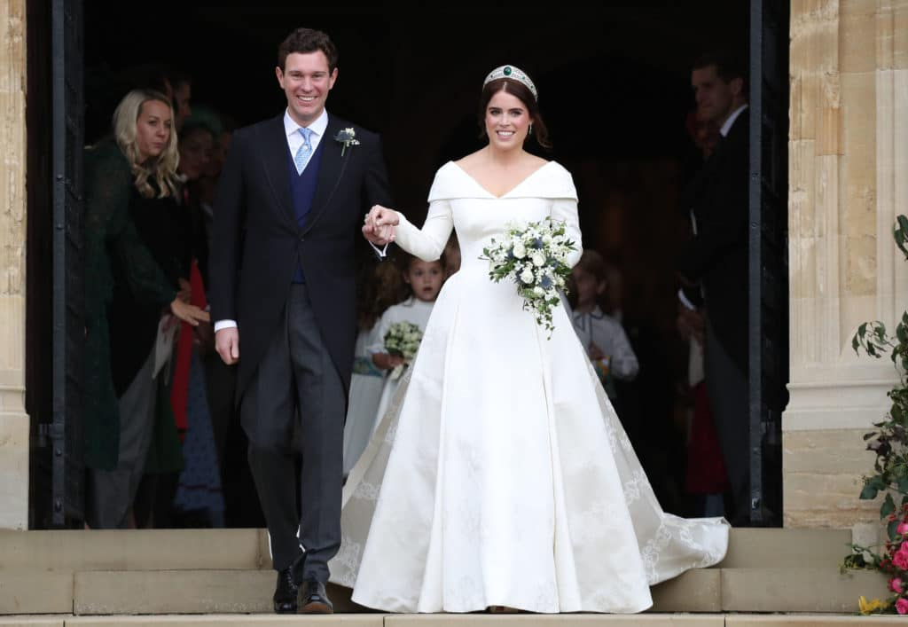 Princess Eugenie Wedding Dress On Display At Windsor Castle