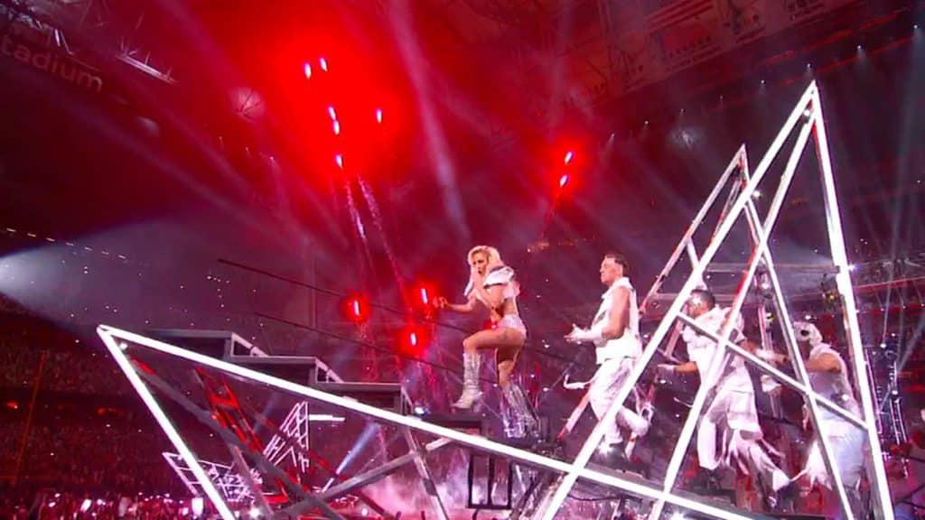 Lady Gaga Dives Into The Super Bowl Li Half Time Show